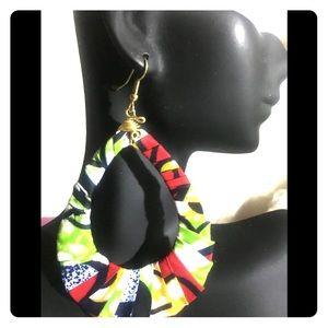 African fabric handmade earrings